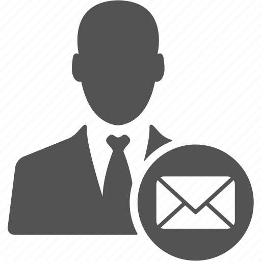 account, businessman, email, mail, manager, message, user icon