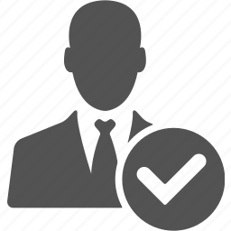 account, approved, businessman, check, manager, ok, user icon