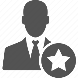 account, avatar, bookmark, businessman, manager, star, user icon