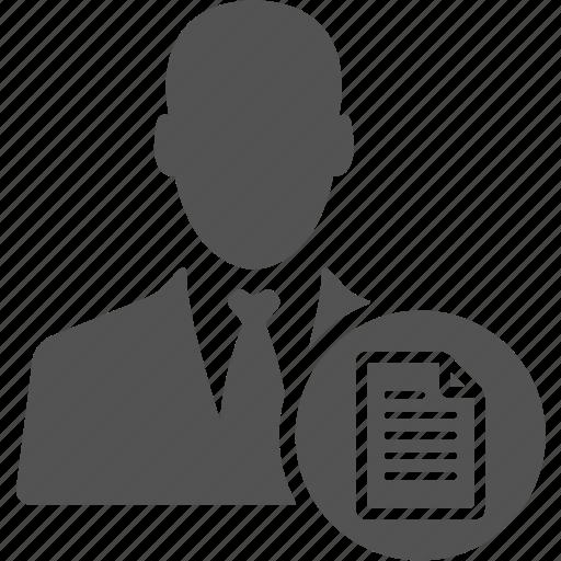 avatar, businessman, manager, porfolio, profile, user icon