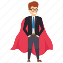 fast employee, profitable worker, super manager, superman, workplace asset icon