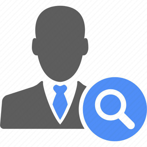 blue, business, businessman, find, magnify, manager, search icon