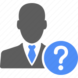 ask, businessman, help, manager, person, question icon