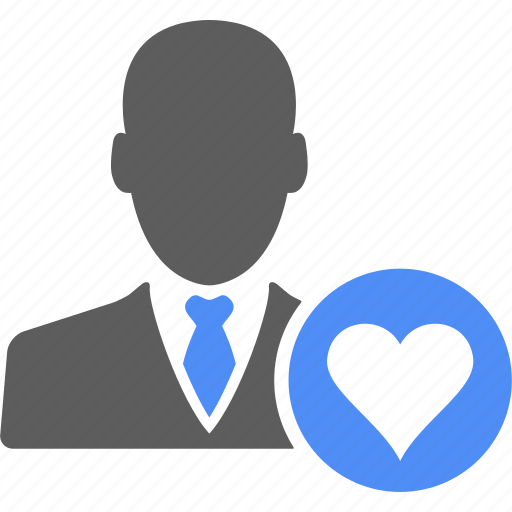 account, business, businessman, heart, love, manager, user icon