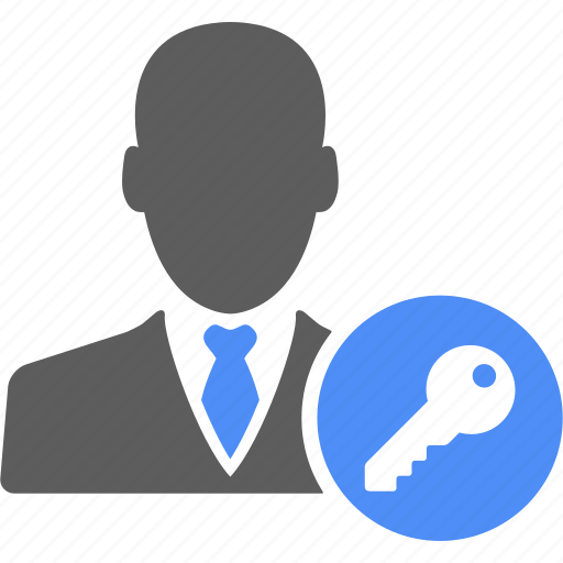 businessman, key, lock, manager, safe icon