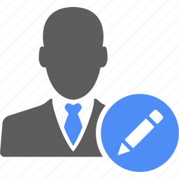 businessman, compose, edit, manager, pen, user, write icon