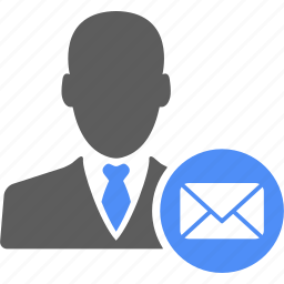 businessman, email, mail, manager, message, user icon