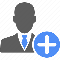account, add, businessman, man, manager, person, plus icon