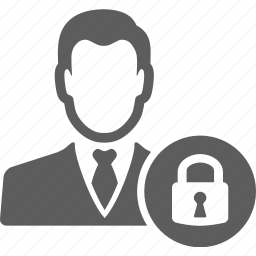 avatar, businessman, key, lock, manager, safe, security icon