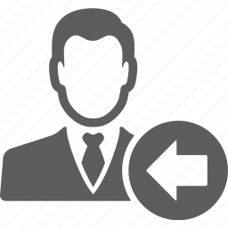 account, avatar, businessman, client, left, manager, user icon