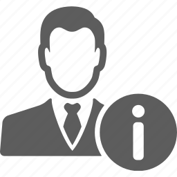 account, avatar, businessman, information, man, manager, profile icon