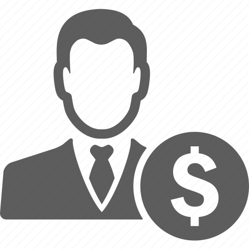 avatar, business, businessman, finance, financial, manager, money icon