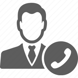 avatar, businessman, call, contact, manager, phone, telephone icon