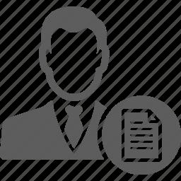 avatar, business, businessman, man, manager, porfolio, profile icon