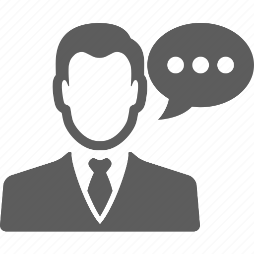 avatar, business, businessman, chat, manager, person, talk icon