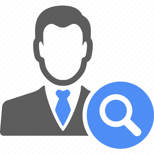 avatar, businessman, find, magnify, manager, search, zoom icon