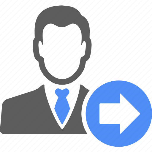 avatar, blue, manager, person, right, user icon