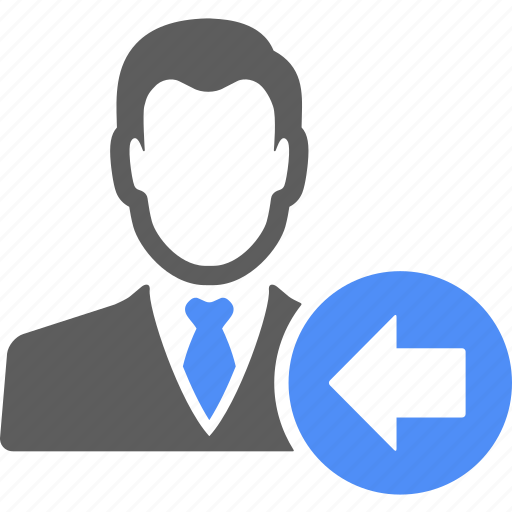 avatar, blue, left, male, manager icon