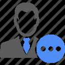 avatar, manager, chat, man, status, talk
