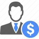 avatar, manager, business, dollar, money, profile