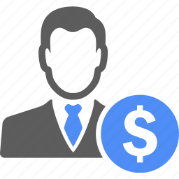 avatar, business, dollar, manager, money, profile icon