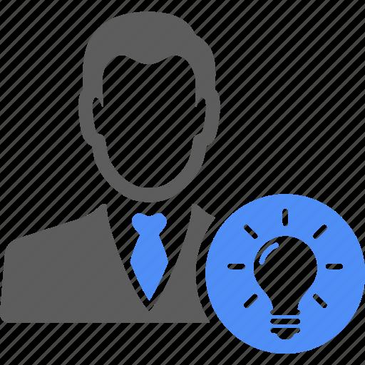 avatar, bulb, business, finance, idea, light, manager icon