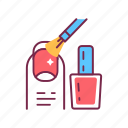 procedure, fingernail, manicure, service, nail, tool, polish icon