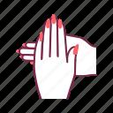 hands, beauty, service, nails, woman, body part, manicure