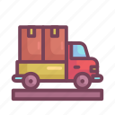 delivery, manufacturing, transport, transportation, truck, vehicle icon