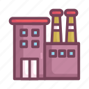 building, construction, factory, manufacturing icon