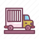 delivery, manufacturing, transport, truck, vehicle icon