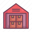 manufacturing, warehouse icon