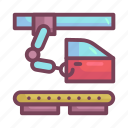 assembly, car, door, line, manufacturing icon