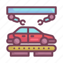 assembly, car, manufacturing icon