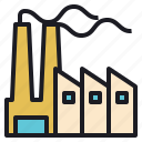 field, industry, manufacturing, production icon