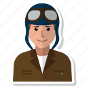 avatar, aviator, flying, man, person, user, woman icon