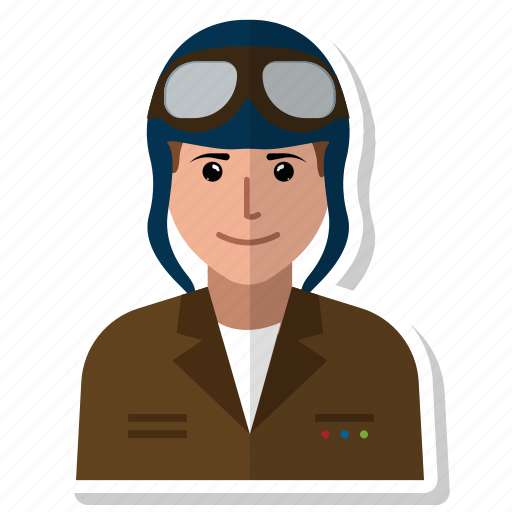 avatar, aviator, flying, man, person, user, woman icon