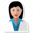 avatar, female, girl, glasses, intelligent, smart, specs icon