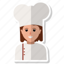 chef, user, woman icon