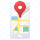 app, direction, gps, location, map, mobile, navigation icon