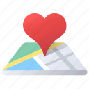 favorite, like, location, love, map, navigation icon