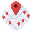 landmarks, location, map, nearby, pins icon