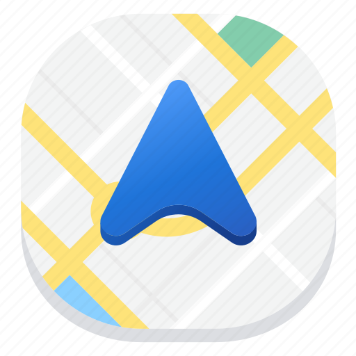 arrow, direction, gps, location, map, navigation icon