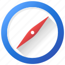 compass, direction, location, navigation, navigator icon