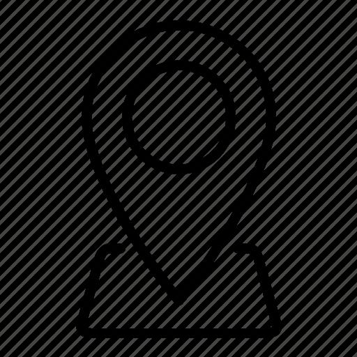 address, location, locator, map, marker, pin icon