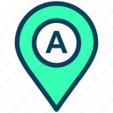 location, map, pin, place, gps, a