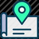 location, map, pin, navigation, gps, paper