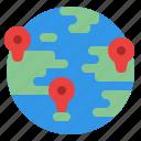 location, map, pin, world