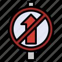 forbidden, sign, traffic, signpost, way, post