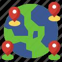 earth, world, map, placeholders, traveler, navigation
